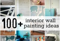 Inspirational Diy – Amazing! #100+ Interior Wall Painting Ideas + Tutorials! At for Fresh Diy Wall Painting Ideas