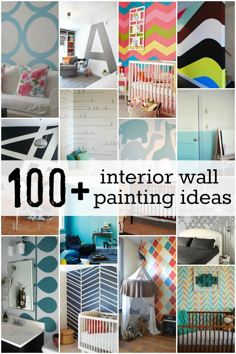 Inspirational Diy - Amazing! #100+ Interior Wall Painting Ideas + Tutorials! At for Fresh Diy Wall Painting Ideas
