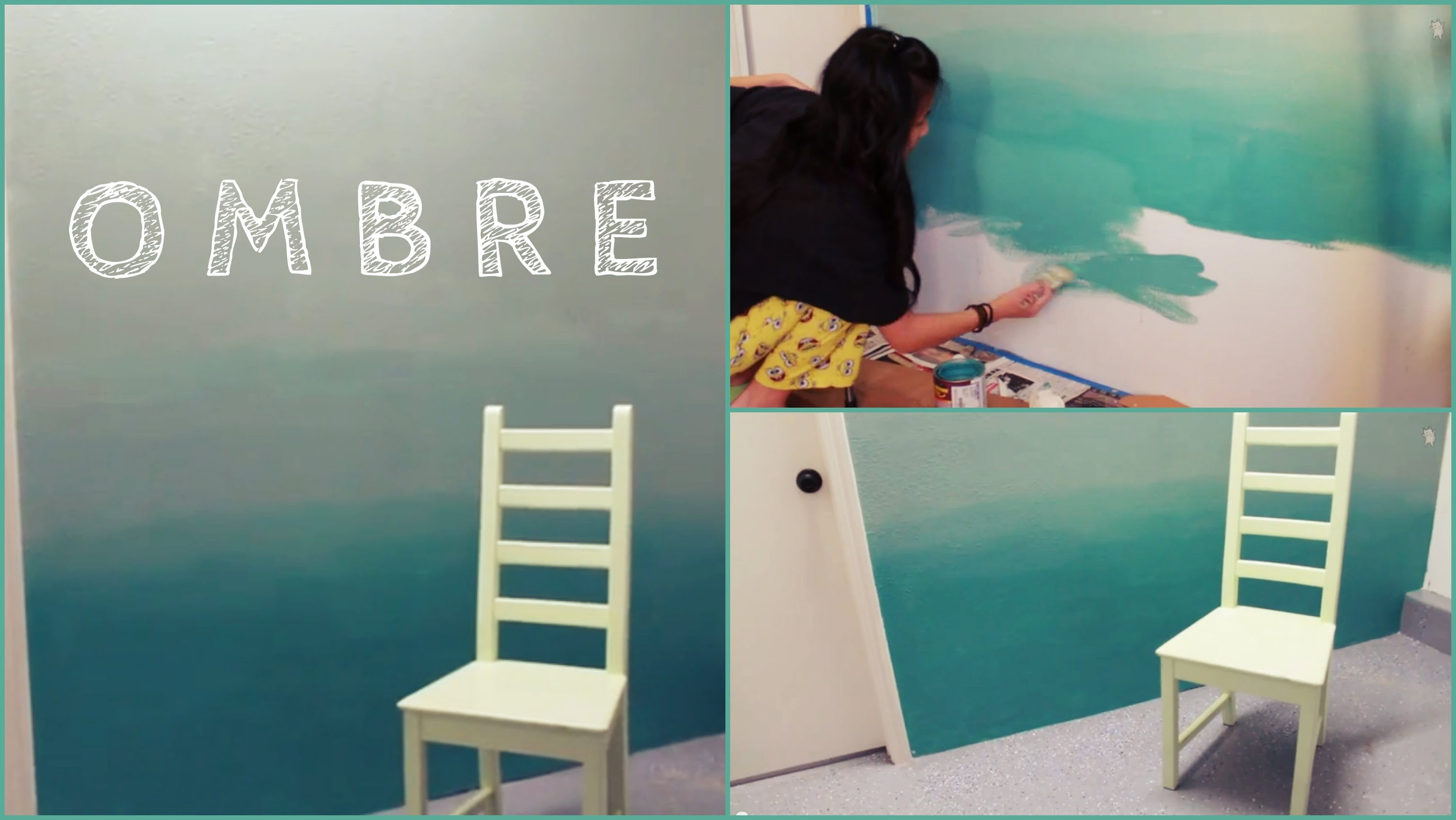 Inspirational Diy: Ombre Wall | How To Paint & Tips! - Youtube for Diy Wall Painting Ideas