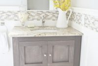 Inspirational Diy Weathered Wood Vanity Could Make Out Of Small Kitchen Cabinet inside Inspirational Weathered Wood Bathroom Vanity