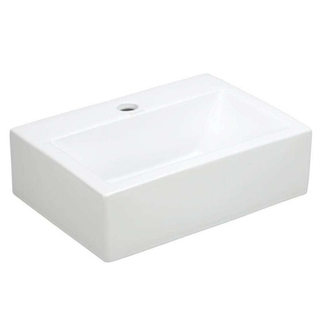 Inspirational Elanti Wall-Mounted Rectangle Bathroom Sink In White-Ec9859 - The regarding Wall Mount Bathroom Sink