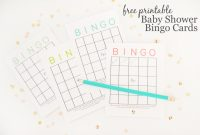 Inspirational Free Printable Baby Shower Bingo Cards – Project Nursery intended for High Quality Free Baby Shower Bingo