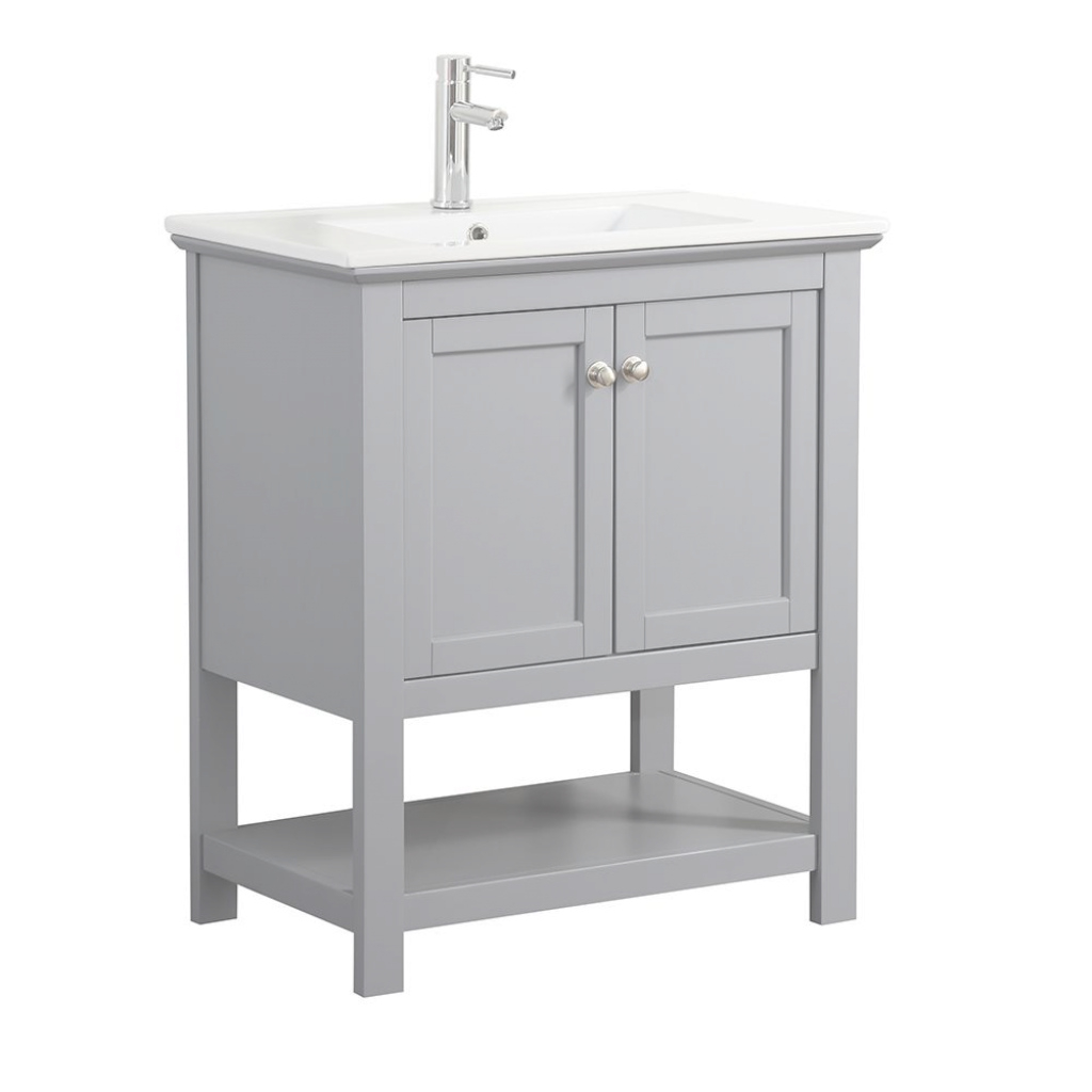 Inspirational Fresca Bradford 30 In. W Traditional Bathroom Vanity In Gray With in White Bathroom Vanity Home Depot