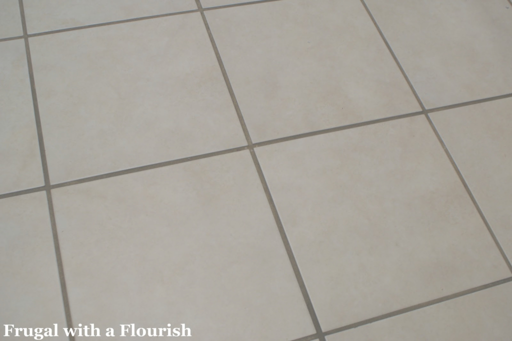 Inspirational Frugal With A Flourish: Getting Tile Grout Back To Beautiful And Clean! pertaining to High Quality How To Clean Kitchen Tile Grout