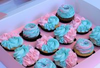 Inspirational Gender Reveal Baby Shower Cupcakes – Stormie D's Cupcakery intended for Baby Shower Cupcakes