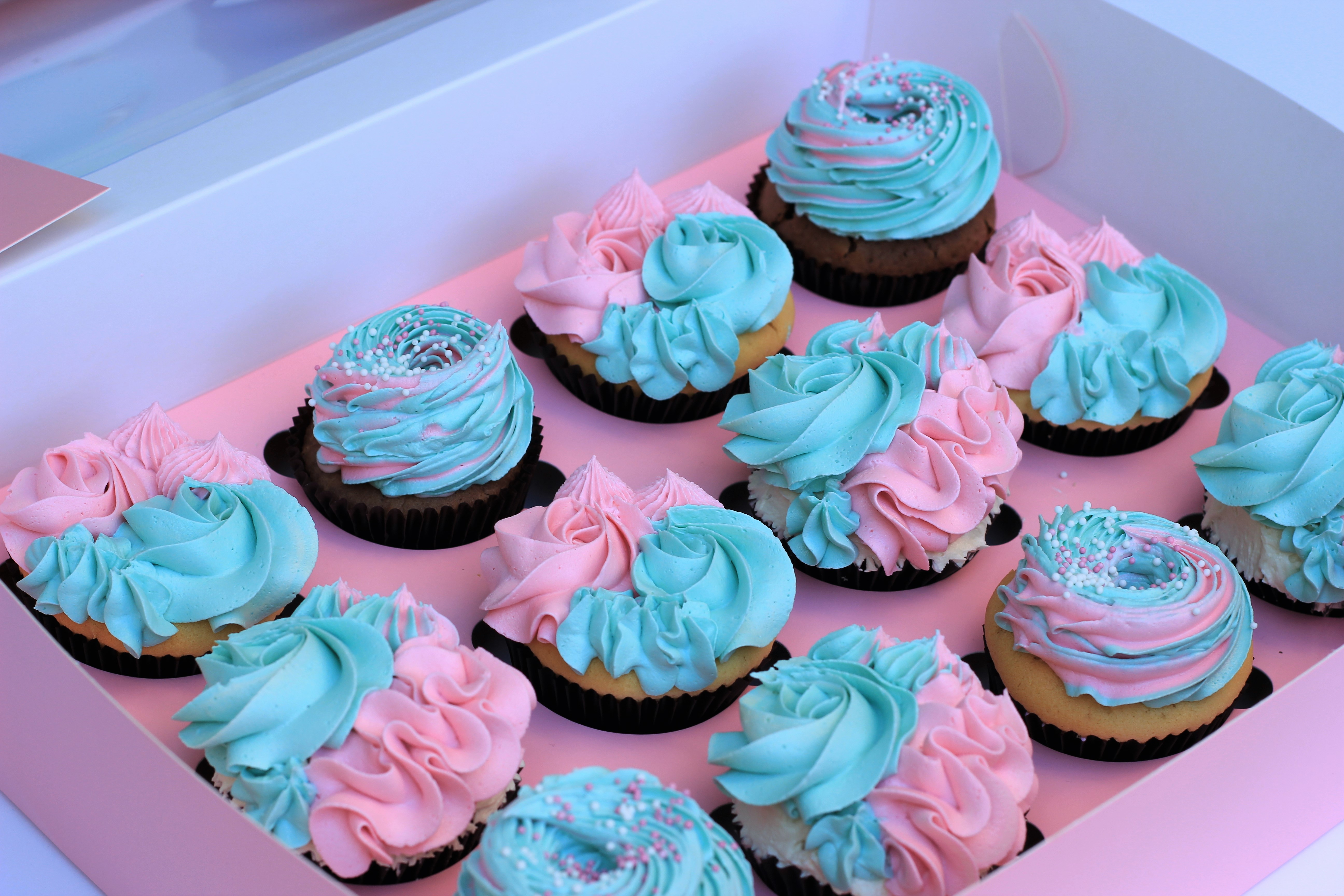 Inspirational Gender Reveal Baby Shower Cupcakes - Stormie D's Cupcakery intended for Baby Shower Cupcakes