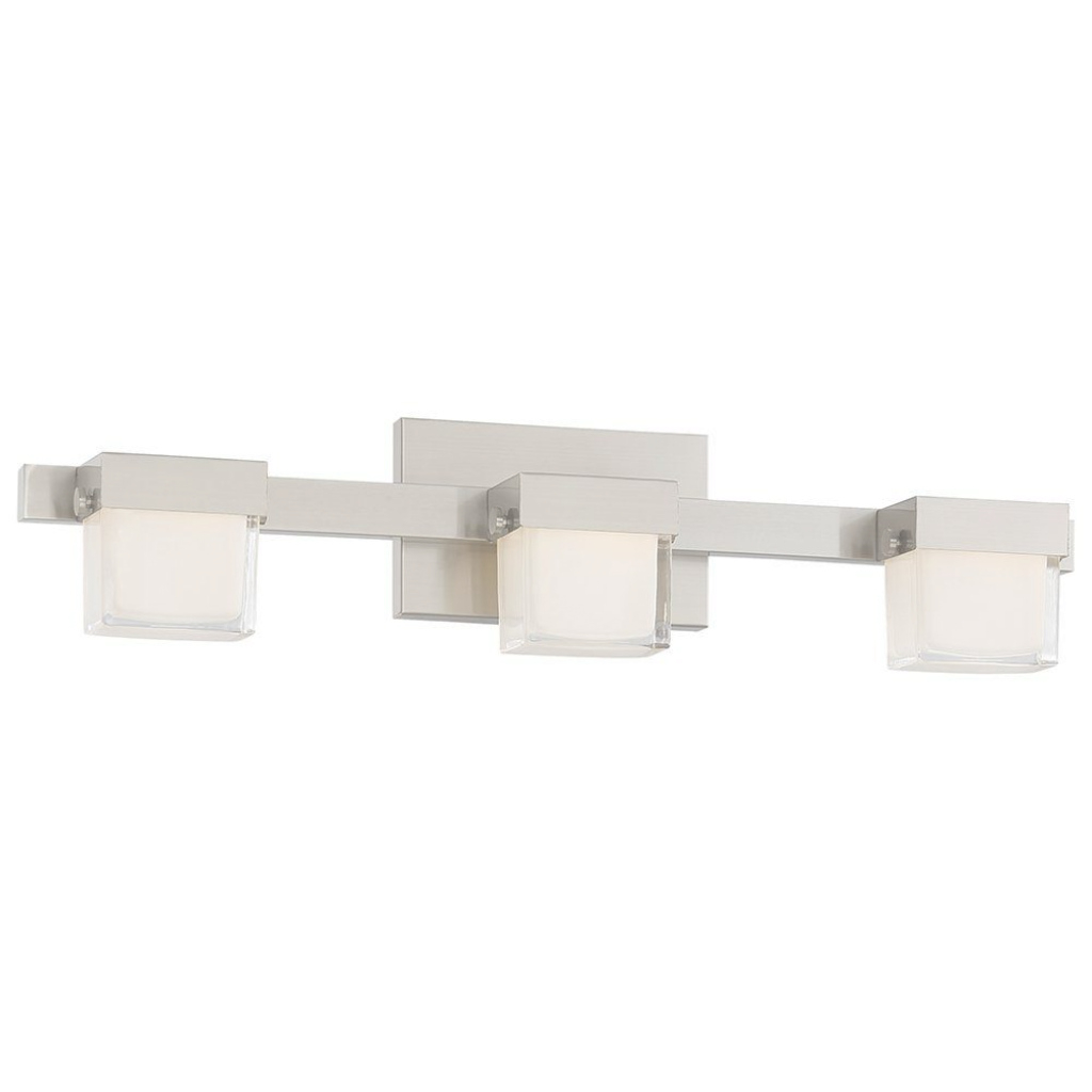 Inspirational Good Lumensmadison Avenue 3-Light Brushed Nickel Led Bath Vanity regarding Bathroom Vanity Lighting