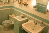 Inspirational Gorgeous Blue Tile Bathroom – Vintage Style – From Scratch! for High Quality Blue Bathroom Photos
