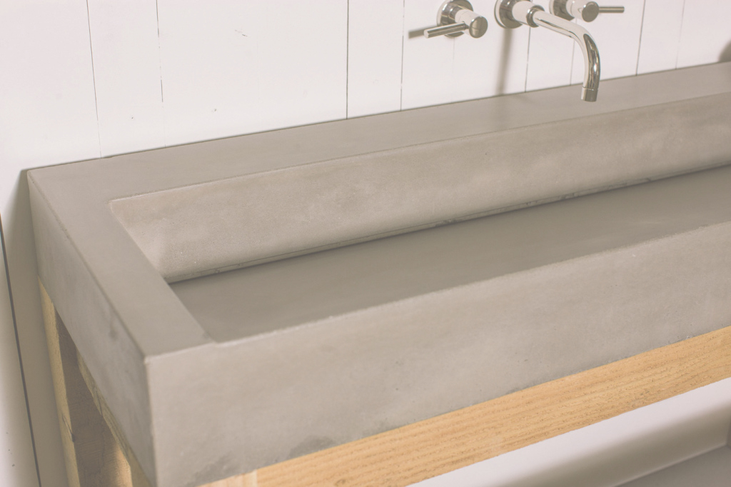Inspirational Gradient Trough Sink - Concrete Wave Design | Concrete Countertops throughout Best of Trough Sink Bathroom