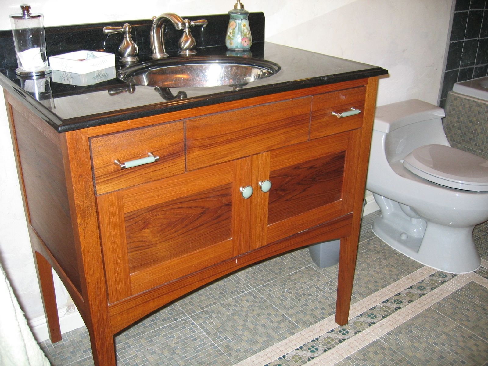 Inspirational Hand Crafted Custom Teak Furniture-Style Bathroom Vanitynear intended for Furniture Style Bathroom Vanities
