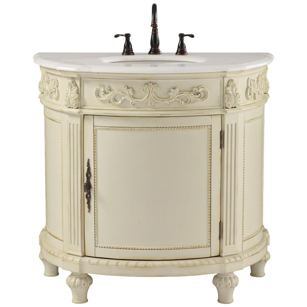 Inspirational Home Decorators Collection Chelsea 37 In. W Bath Vanity In Antique throughout Unique Home Depot Vanities For Bathrooms