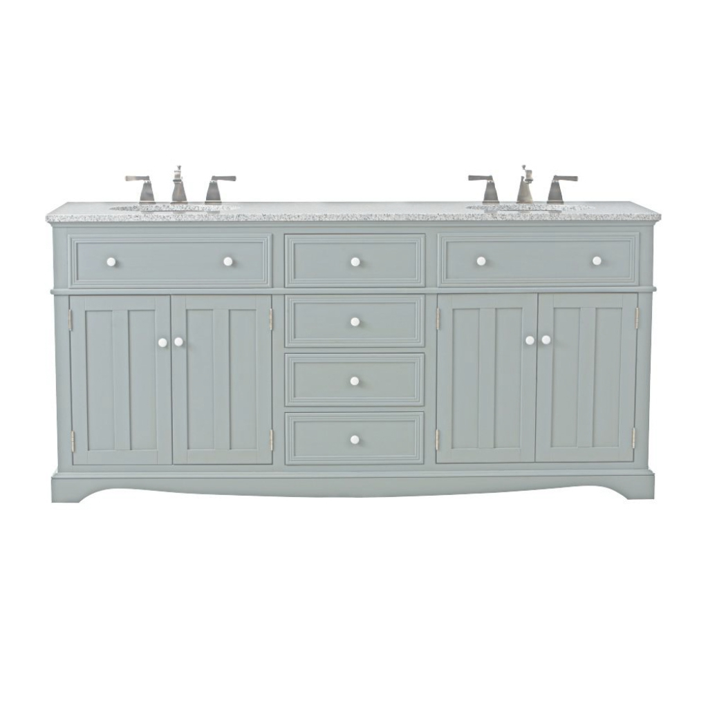 Inspirational Home Decorators Collection Fremont 72 In. W X 22 In. D Double Bath within Lovely 72 Bathroom Vanities