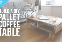 Inspirational How To Build A Diy Rustic Pallet Coffee Table – Youtube pertaining to Pallet Coffee Table Plans