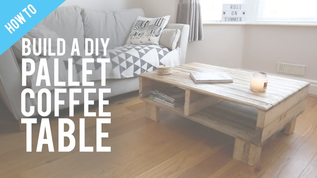 Inspirational How To Build A Diy Rustic Pallet Coffee Table - Youtube pertaining to Pallet Coffee Table Plans