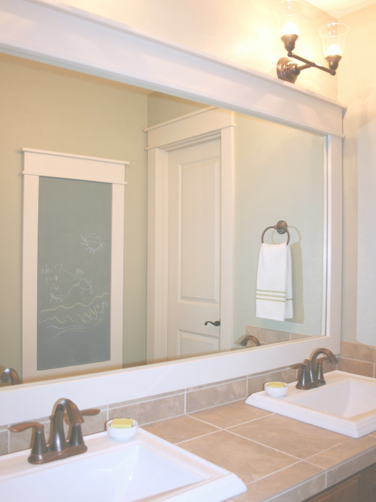 Inspirational How To Frame A Mirror | Hgtv in Best of Bathroom Mirror Ideas On Wall