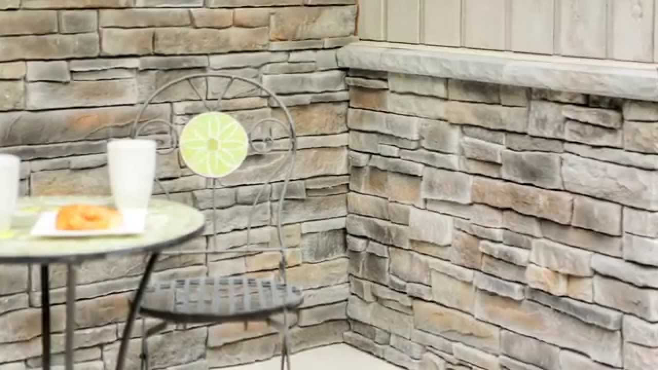 Inspirational How To Install An Inside Stone Veneer Corner With Fusion Stone - Youtube with How To Install Stone Backsplash