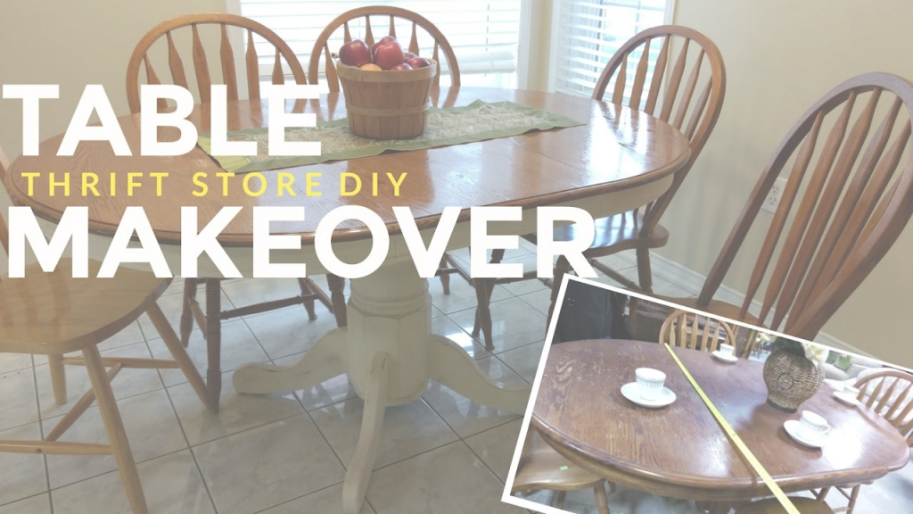 Inspirational How To Refinish A Kitchen Dining Table: Vintage / Shabby Chic with How To Refinish A Dining Room Table