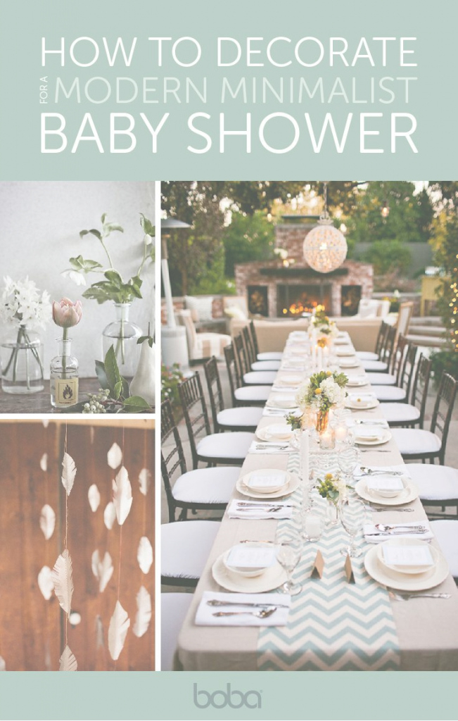 Inspirational How To Throw A Modern Minimalist Baby Shower | Pinterest inside Modern Baby Shower Themes
