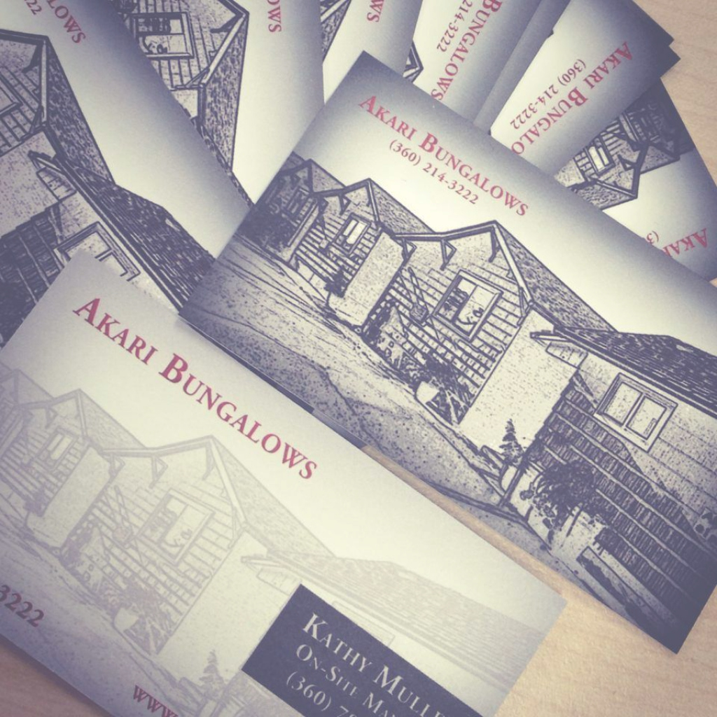 Inspirational How To Turn A Low-Resolution Photo Into A Hot Business Card with regard to Akari Bungalows