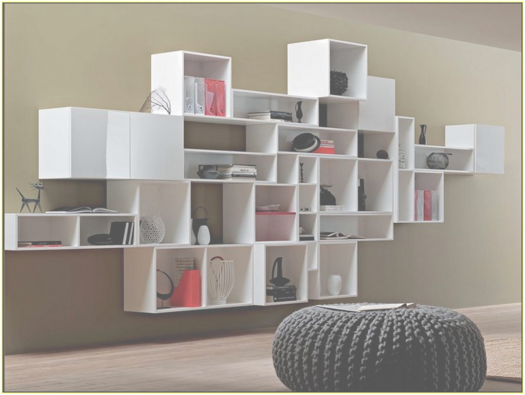 Inspirational Incredible White Shelving Unit Design With Shelves And Drawers Wall intended for Living Room Shelving Units