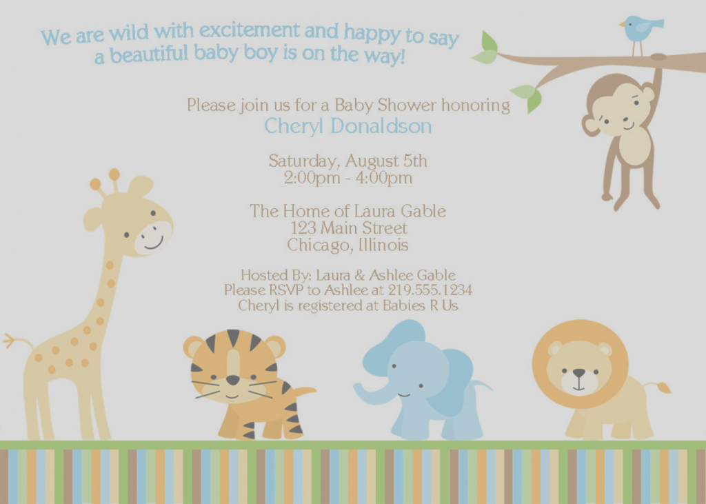 Inspirational Jungle Animals Baby Shower Image Collections - Handicraft Ideas Home intended for Awesome Safari Animals Baby Shower