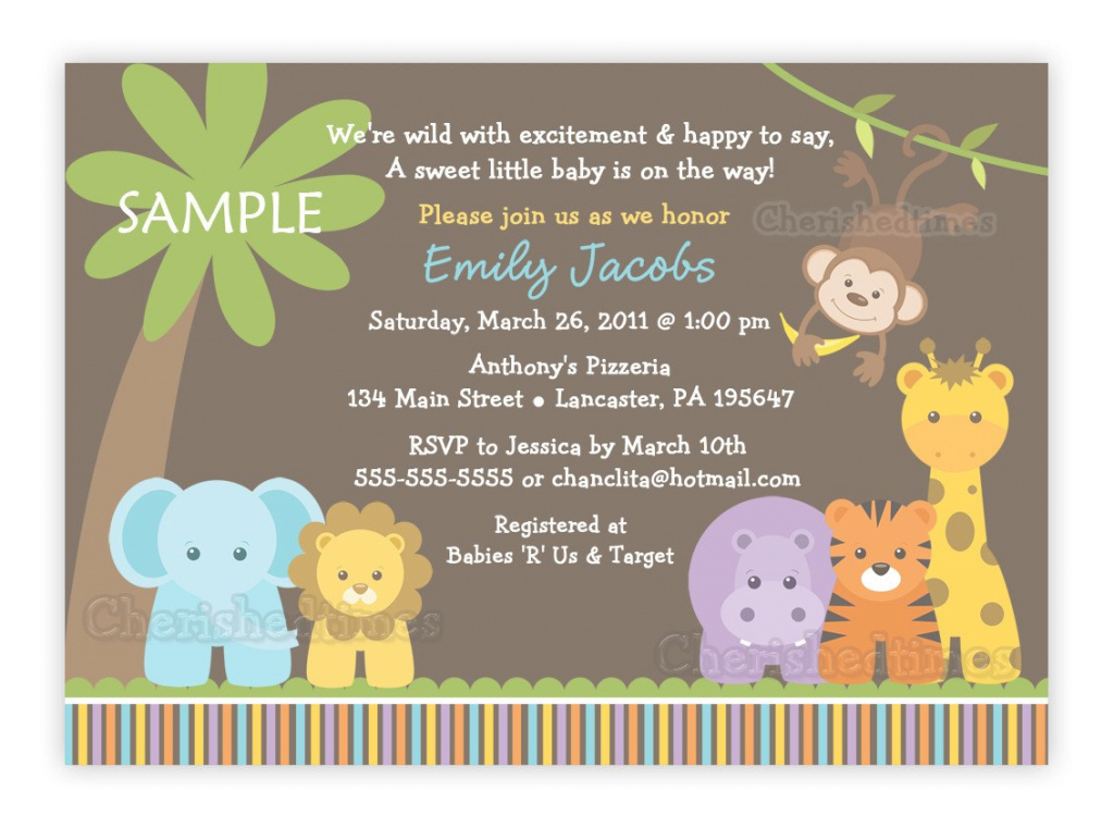 Inspirational Jungle Safari Wild Animals Baby Shower Invitation (You Print with Awesome Safari Animals Baby Shower