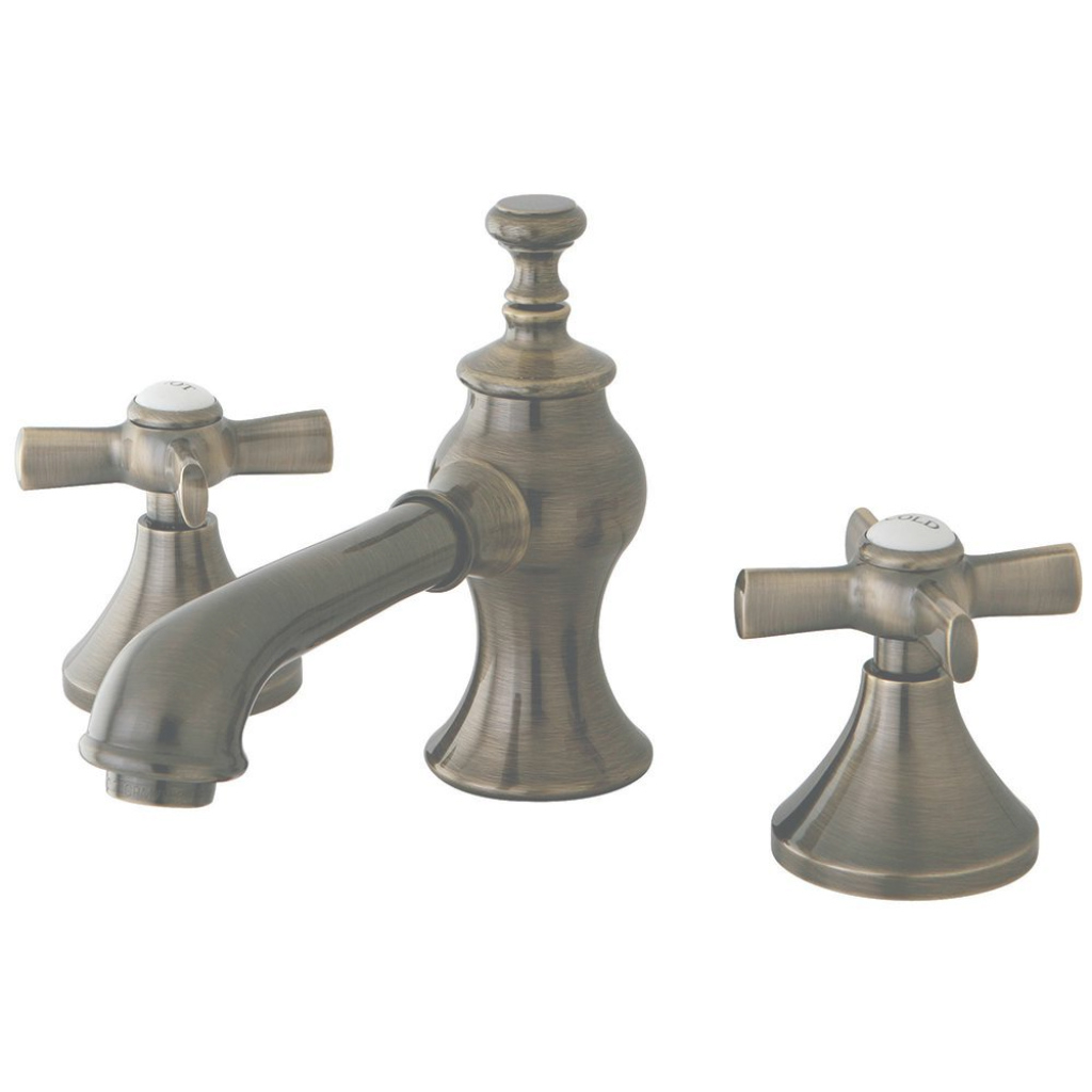 Inspirational Kingston Brass Modern Cross 8 In. Widespread 2-Handle Mid-Arc with regard to Luxury Brushed Brass Bathroom Faucet