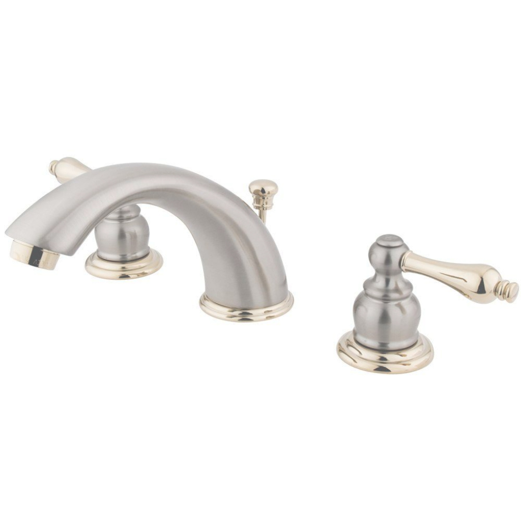 Inspirational Kingston Brass Victorian 8 In. Widespread 2-Handle Mid-Arc Bathroom with regard to Brass Bathroom Sink