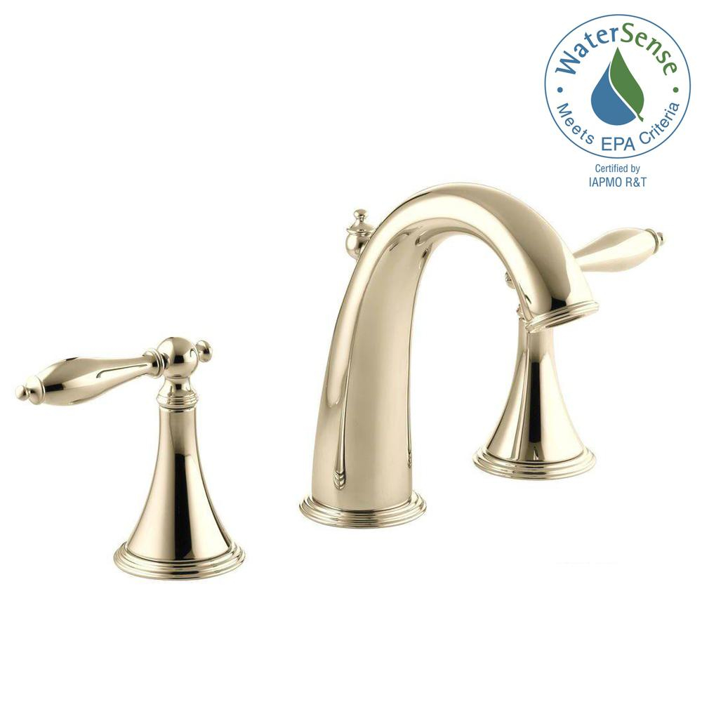 Inspirational Kohler Finial Traditional 8 In. Widespread 2-Handle High-Arc throughout High Quality Gold Faucet Bathroom
