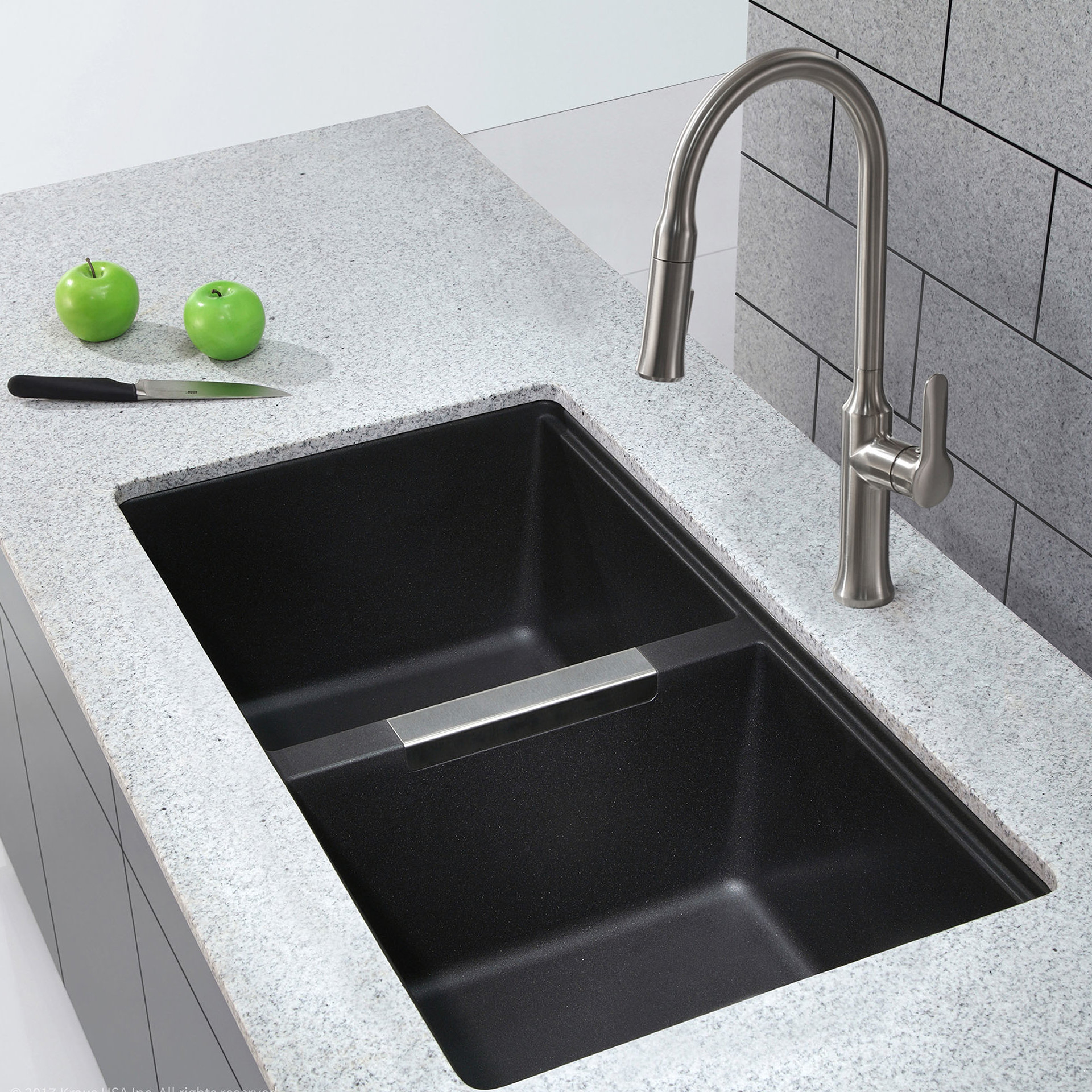 "Inspirational Kraus 32.5"" L X 18.88"" W Double Basin Undermount Kitchen Sink inside Lovely My Kitchen Sink Smells"