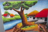 Inspirational Landscape To Draw Stds How To Draw A Village Landscape With Oil with regard to Landscape Drawing For Class 8
