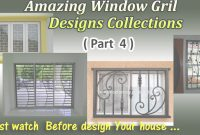 Inspirational Latest Window Grill Designs ( Part 4 ) – Youtube throughout Lovely Grill Design For Window