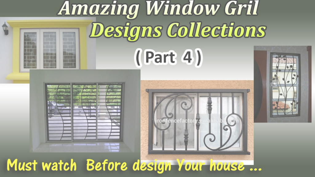 Inspirational Latest Window Grill Designs ( Part 4 ) - Youtube throughout Lovely Grill Design For Window