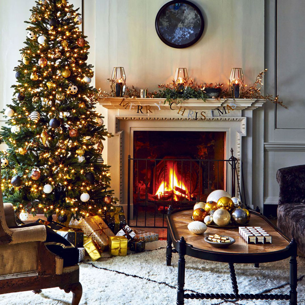 Inspirational Living Room : Beautiful Christmas Tree In Living Room Photos Image pertaining to New Christmas Living Room