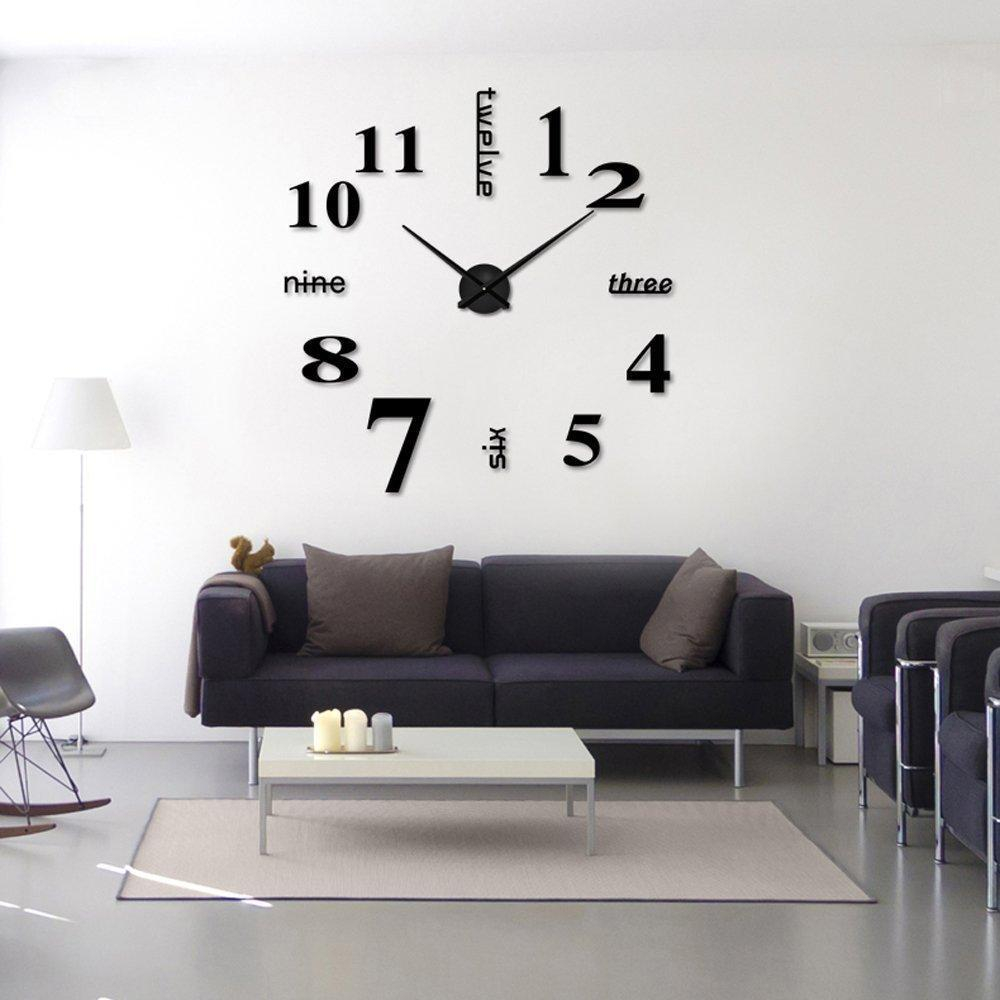 Inspirational Living Room Bedroom Wall Stickers Clock Diy Personalized Home with Living Room Wall Clocks