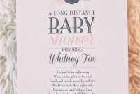 Inspirational Long Distance Baby Shower Invitations Long Distance Baby Shower throughout Review When To Have Your Baby Shower