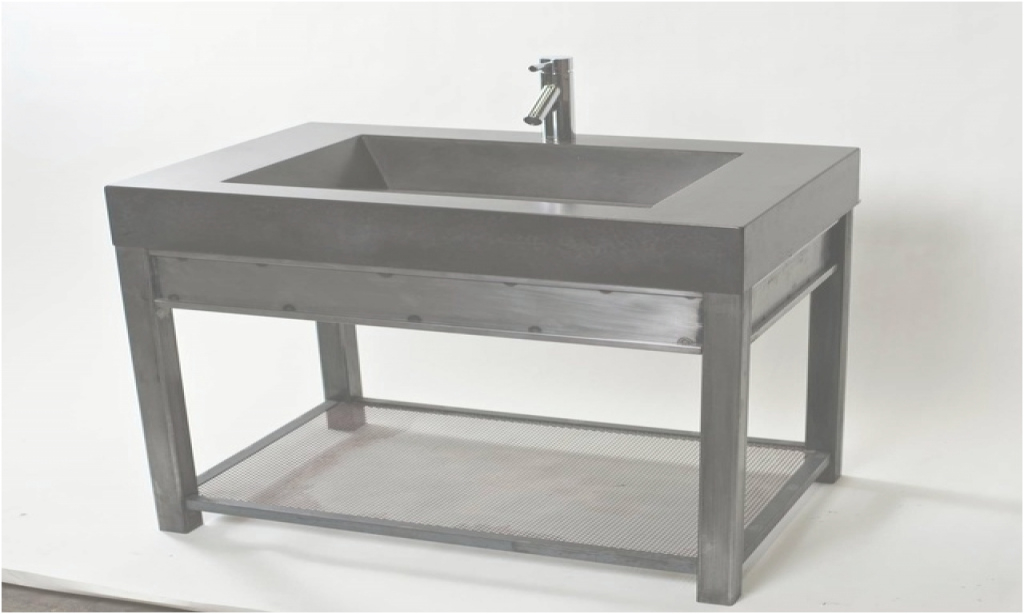 Inspirational Metal Bathroom Sinks Fresh Metal Bathroom Vanities Steel Vanity With throughout Set Metal Bathroom Vanity