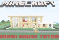 Inspirational Minecraft- Modern House Tutorial – Youtube pertaining to Medium Modern House Minecraft Image