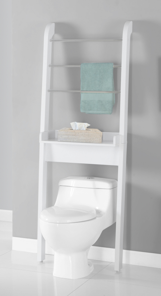 Inspirational Minimalist White Wooden Towel Hanger With Shelf As Well As Bathroom intended for Bathroom Space Saver Ideas
