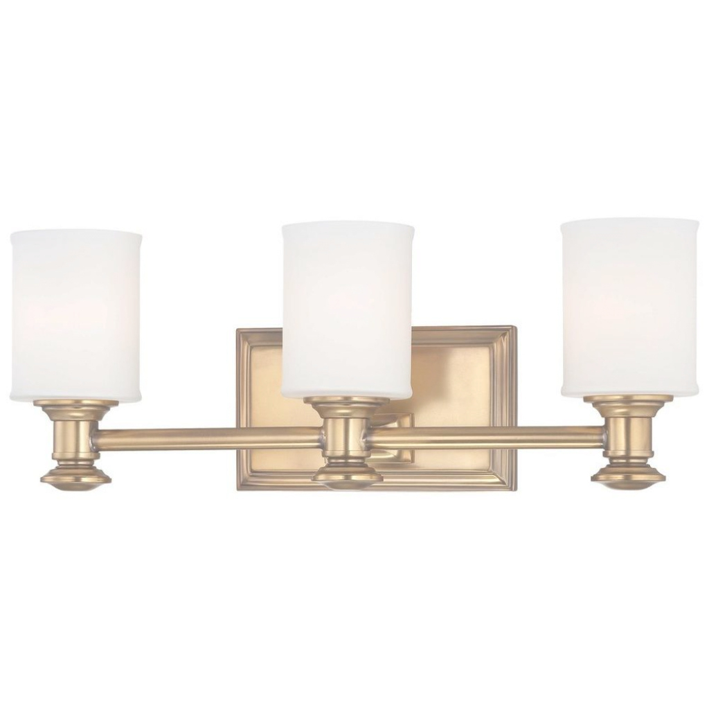 Inspirational Minka Lavery Harbour Point 3-Light Liberty Gold Bath Light-5173-249 within Best of Gold Bathroom Vanity Lights