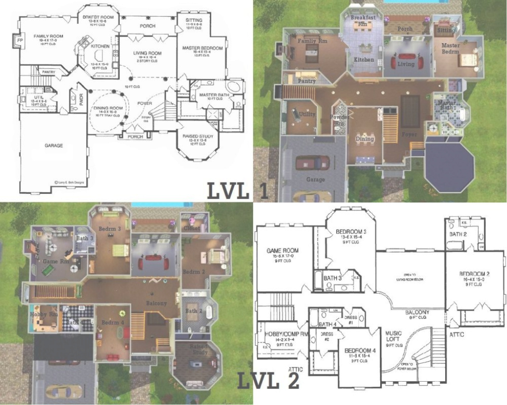 Inspirational Mod Sims Majestic Bay - Home Plans & Blueprints | #81488 inside Sims 3 House Plans Blueprints