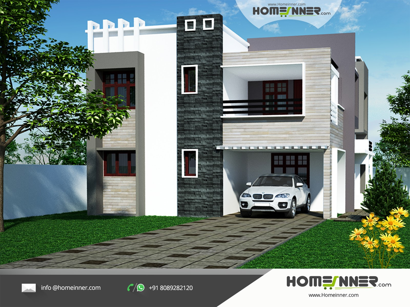Inspirational Modern 4 Bhk Contemporary North Indian Home Design Ideas | Penting with regard to Indian Home Elevation Design Photo Gallery