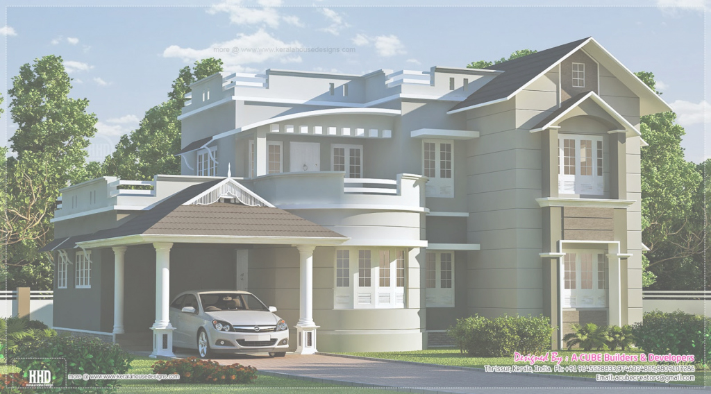 Inspirational New Model Kerala House Designs - Homes Floor Plans for New House Design Photos