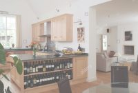 Inspirational Open Plan Kitchen And Dining Room With Wine Shelves And View Through within Inspirational Open Plan Kitchen Dining Room