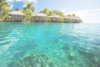 Inspirational Over Water Bungalows With Steps Into Green Lagoon – My Hawaii Wedding intended for Hawaii Overwater Bungalows
