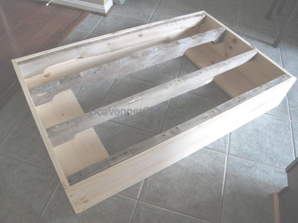 Inspirational Pallet Coffee Table Diy – Scavenger Chic intended for Lovely Pallet Coffee Table Plans