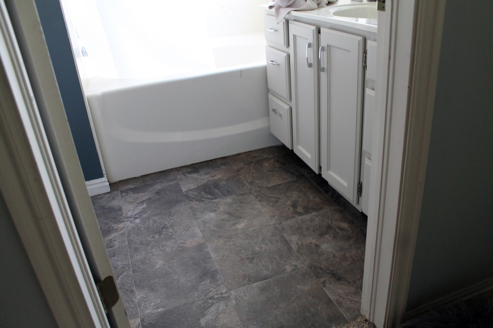 Inspirational Peel And Stick Bathroom Floors - Chris Loves Julia regarding Best of Flooring For Bathrooms