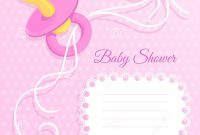 Inspirational Pink Baby Shower Card Stock Illustration. Illustration Of Invitation for New Baby Shower Wallpaper