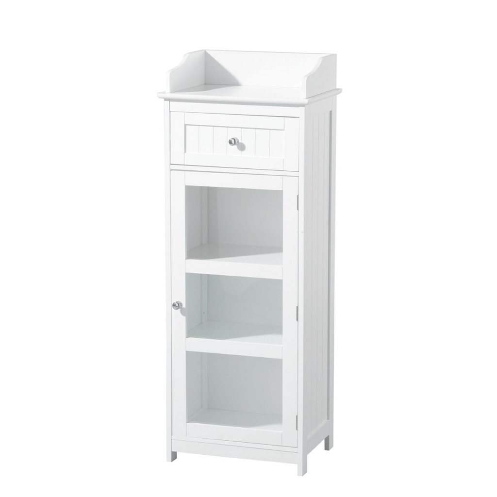 Inspirational Premier Housewares Portland Floor Standing Cabinet, White Wood pertaining to Bathroom Floor Cabinet White