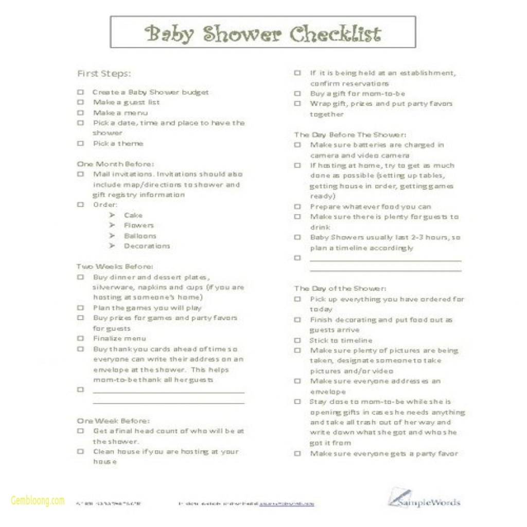 Inspirational Printable Ba Shower Planner Template 8 Free Pdf Documents With Baby within Elegant Baby Shower Checklist Pdf